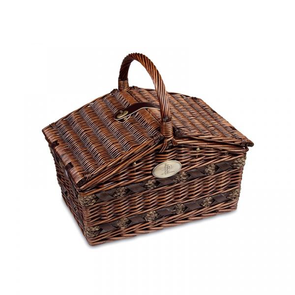 Kosz piknikowy z wyposażeniem Cilio Como ciemny brąz CI-155105