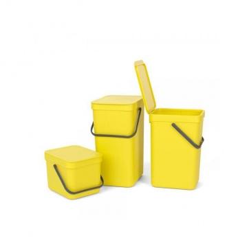 Kosz 'Sort&Go' 12l żółty - Brabantia