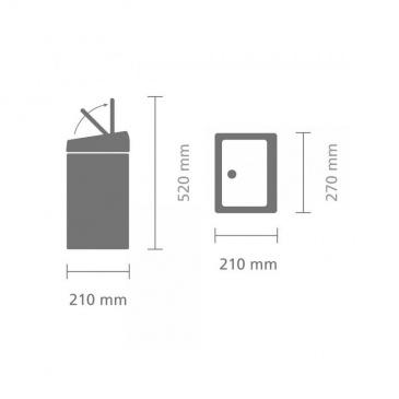 Kosz Touch BIn 10L  prostokątny stal polerowana - Brabantia
