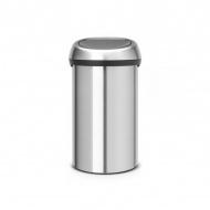 Kosz Touch Bin 60l ze stali matowej FPP Brabantia srebrny
