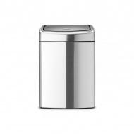 Kosz Touch Bin prostokątny 10L Brabantia srebrny