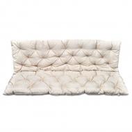 Kremowa poduszka na huśtawkę ogrodową 150 cm