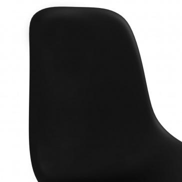Krzesła jadalniane, 2 szt., czarne, plastikowe