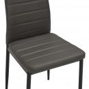 Krzesła jadalniane, 6 szt., szare, sztuczna skóra