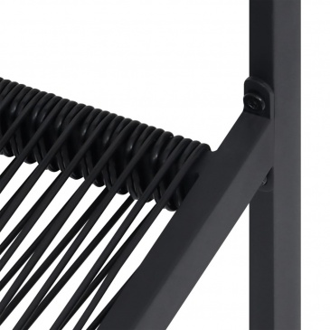 Krzesła ogrodowe, 2 szt., rattan PVC, czarne