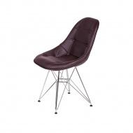 Krzesło 44x45x85cm King Home DSR Ekoskóra gorzka czekolada