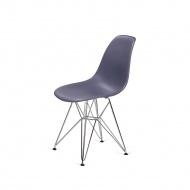 Krzesło 46x54x81cm King Home DSR Silver ciemno-szare