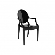 Krzesło 52,5x55,5x92,5cm King Home Louis czarne