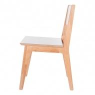 Krzesło 82x53x42 cm NORDIFRA MD.FOLCHA biało-brązowe