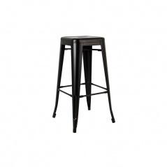 Krzesło barowe 43,5x43,5x76cm King Home Tower czarne