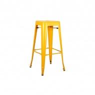 Krzesło barowe 43,5x43,5x76cm King Home Tower żółte