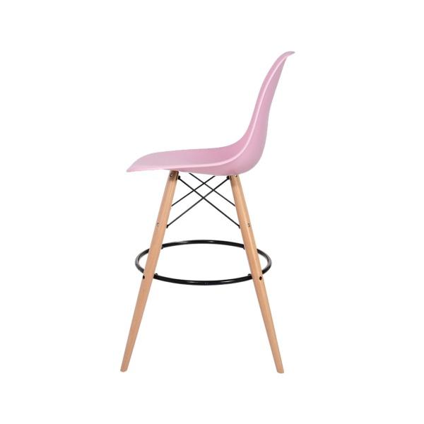 Krzesło barowe 46x57x104cm King Home DSW Wood pastelowy róż H-130.DPP3.07.DSW