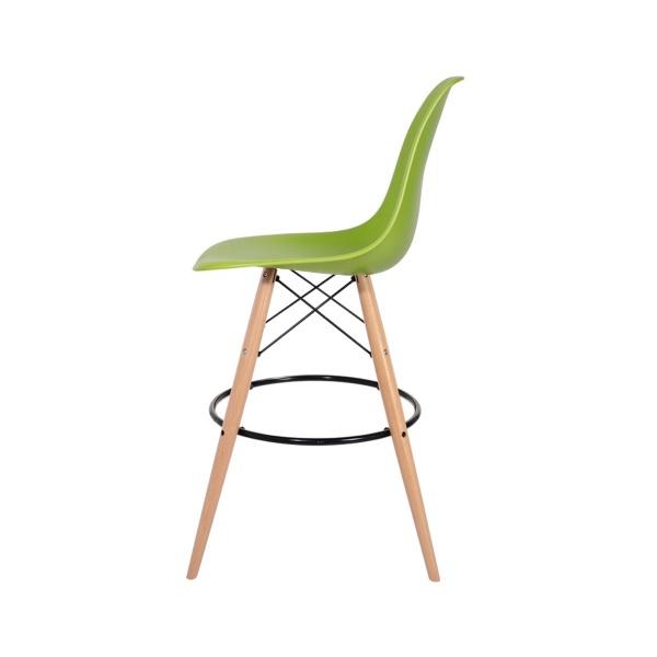 Krzesło barowe 46x57x104cm King Home DSW Wood soczysta zieleń H-130.DPP3.13.DSW