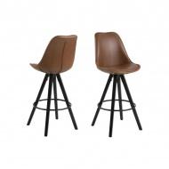Krzesło barowe Dima Brandy Actona ekoskóra brąz
