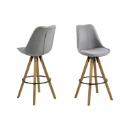 Krzesło barowe Dima Melange Actona ciemnoszaro-brąz