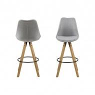 Krzesło barowe Dima Melange Actona szare-brąz