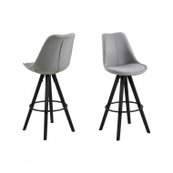 Krzesło barowe Dima Melange Actona szaro-czarne