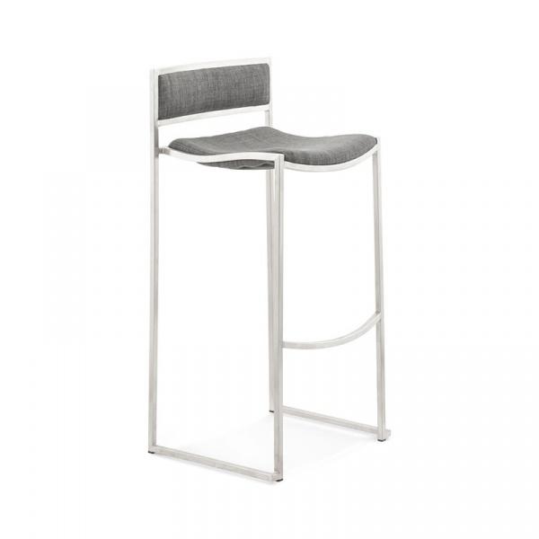 Krzesło barowy Chrome Kokoon Design szary BS00980GR