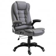 Krzesło biurowe, antracytowe, sztuczna skóra