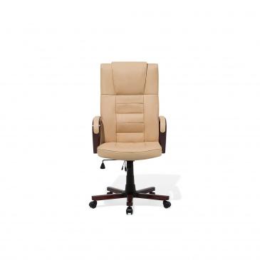 Blmeble Krzesło Biurowe Beżowe Skóra Ekologiczna Funkcja