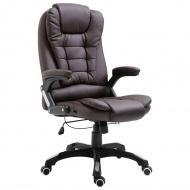 Krzesło biurowe, brązowe, sztuczna skóra