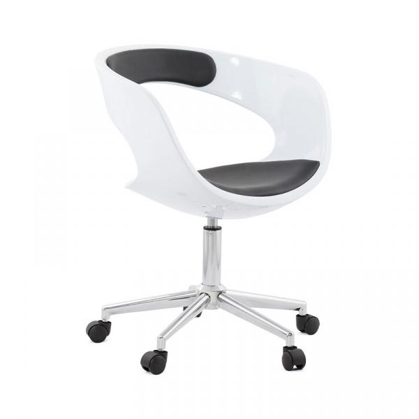 Krzesło biurowe Felix Kokoon Design biało-czarny OC00250WHBL