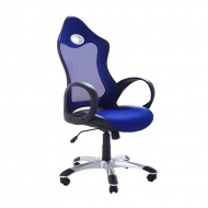 Krzesło biurowe niebieskie funkcja odchylenia iMontagne