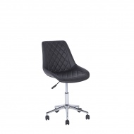 Krzesło biurowe skóra ekologiczna czarne MARIBEL