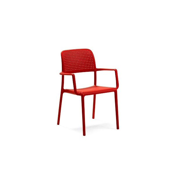 Krzesło Bora z podłokietnikami czerwone DK-28346