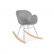 Krzesło bujane Kokoon Design Knebel szare