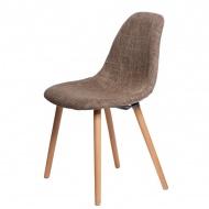 Krzesło D2 Cosy tapicerowane brązowe
