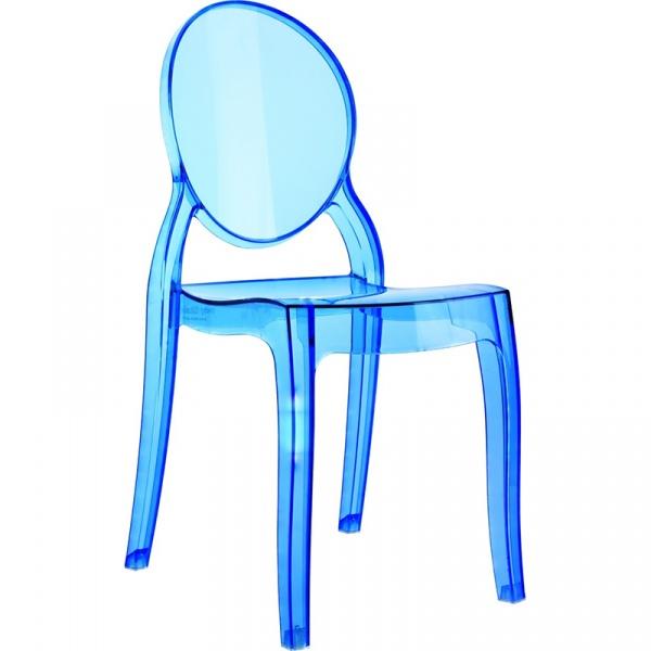 Krzesło D2 Mia niebieki transparentne DK-64942