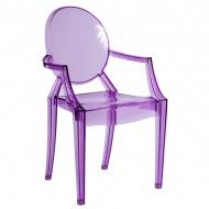 Krzesło D2 Royal fioletowy transparentny