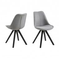 Krzesło Dima Actona jasnoszare-czarne