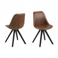 Krzesło Dima Brandy Actona brązowe-czarne