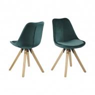 Krzesło Dima VIC Actona zielone-drewno kauczukowe