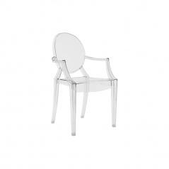Krzesło dla dzieci Louis Victoria Ghost Royal transparentne