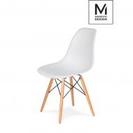 Krzesło DSW Modesto Design białe-podstawa bukowa