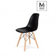 Krzesło DSW Modesto Design czarne-podstawa bukowa