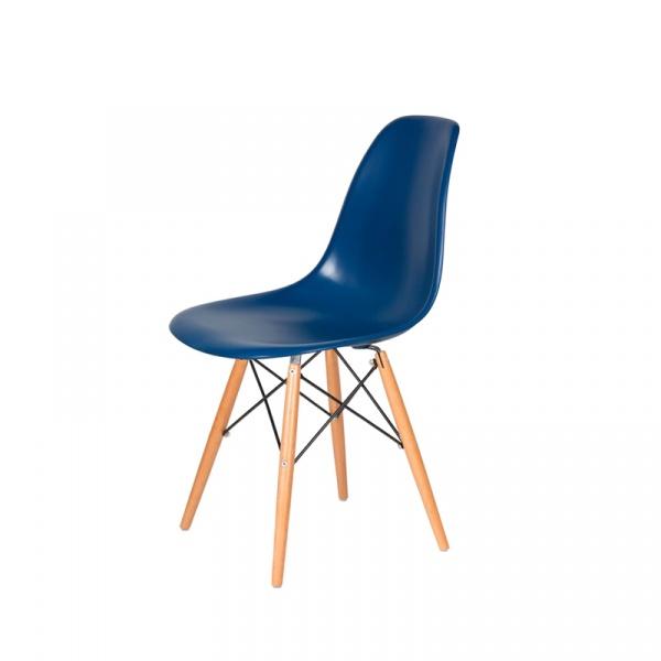 Krzesło DSW Wood King Bath atramentowy niebieski K-130.BLUE.27.DSW