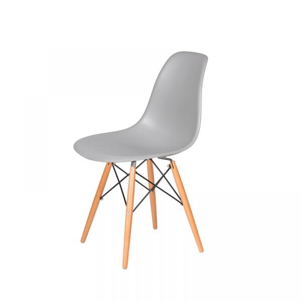 Krzesło DSW Wood King Bath jasny platynowy JU-K130.DSW.LIGHT.GREY.05
