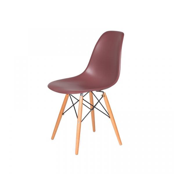 Krzesło DSW Wood King Bath koktajl malinowy JU-K130.DSW.RASPBERRY.38