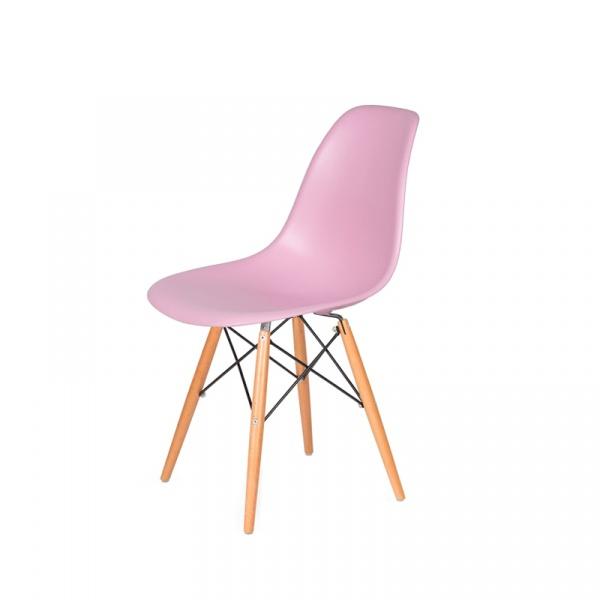 Krzesło DSW Wood King Bath pastelowy róż JU-K130.DSW.PINK.07