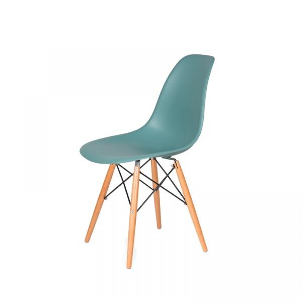 Krzesło DSW Wood King Bath pastelowy turkus JU-K130.DSW.SURFIN.29