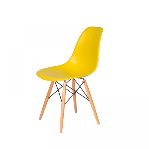 Krzesło DSW Wood King Bath żółty słoneczny JU-K130.DSW.YELLOW.09