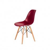 Krzesło DSW Wood King Home bordowe