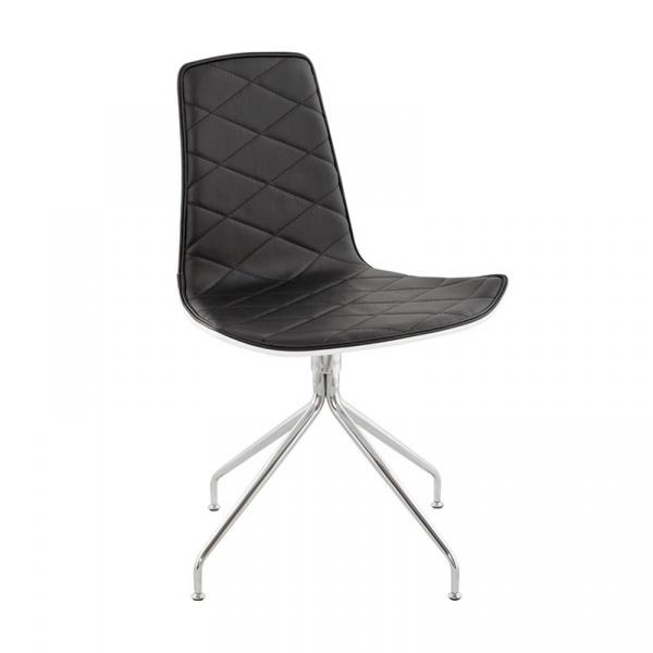 Krzesło Duo Kokoon Design czarno-biały CH00550WHBL
