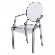 Krzesło dziecięce D2 Royal Junior transparentny dymiony