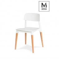 Krzesło Ecco Modesto Design białe-drewno bukowe