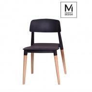 Krzesło Ecco Modesto Design czarne-drewno bukowe